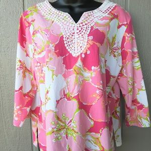Alfred Dunner Floral Top Petite Size LP